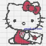 Hello Kitty en punto de cruz.