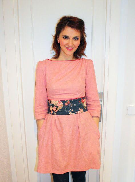 Vestido Peony Colette patterns