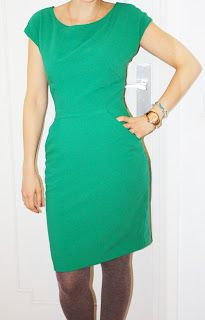 Vestido Matthew Williamson BURDA sept 2012 verde de CREP