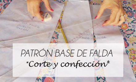 VIDEO TUTORIAL PATRON BASE DE FALDA (PATRONAJE)