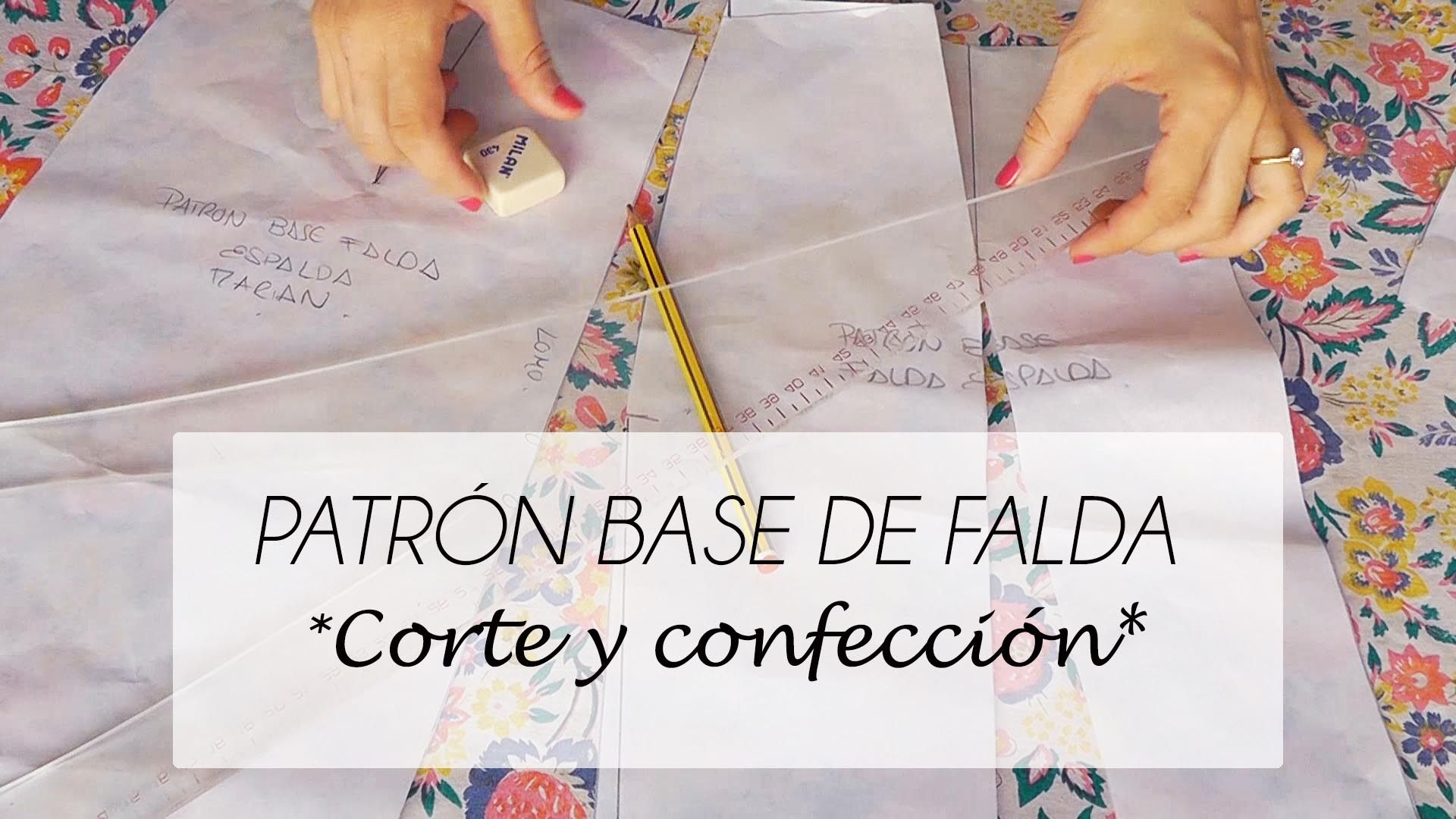 VIDEO TUTORIAL PATRÓN BASE DE FALDA (PATRONAJE)