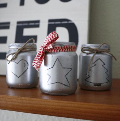 portavelas DIY navidad