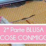 2ª parte COSE CONMIGO BLUSA 1B BURDA EASY OCTUBRE 2015 (UNION DE PIEZAS)