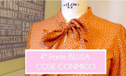 4ª parte COSE CONMIGO BLUSA 1B BURDA EASY OCTUBRE 2015. MANGAS PUÑOS Y BOTONES