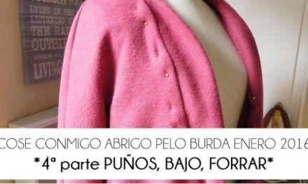 4ª PARTE COSE CONMIGO ABRIGO PELO BURDA. PUÑOS BAJO Y FORRAR