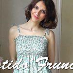 Como hacer un Vestido Fruncido con hilo elástico