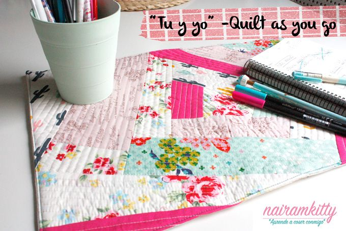 DIY Mantel individual  Quilt as you go