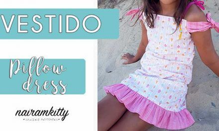 VESTIDO DE NIÑA TIPO PILLOW DRESS I COSTURA