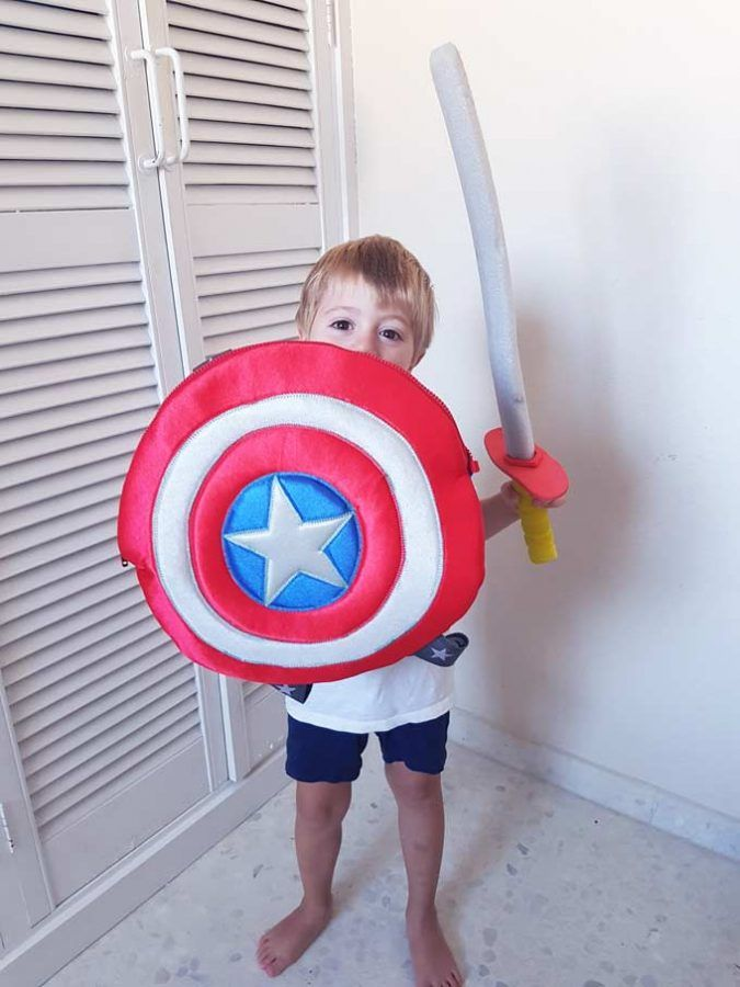 mochila vuelta al cole escudo capitán america