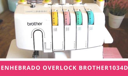 Como enhebrar la overlock o remalladora Brother 1034D