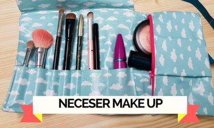 Como hacer un neceser de maquillaje roll up de viaje