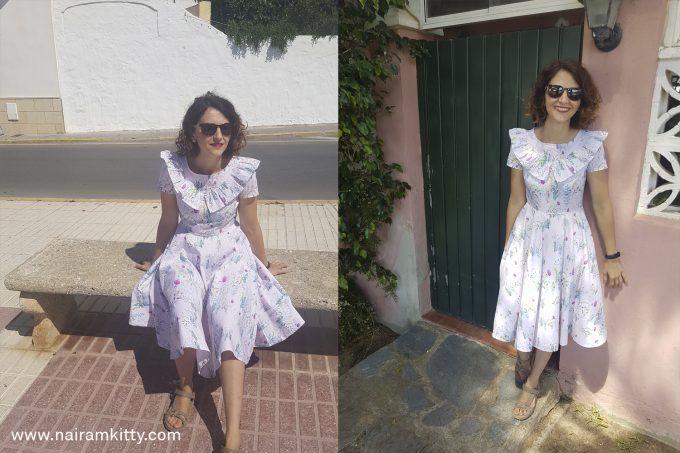vestido frunce burda