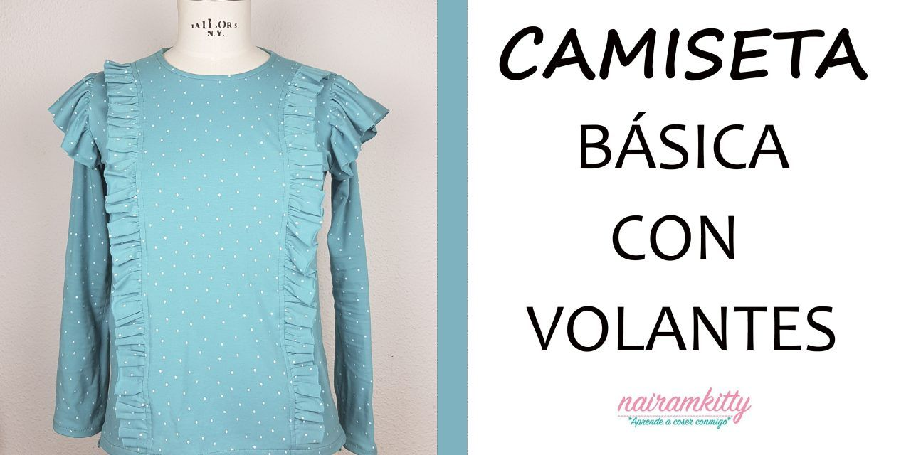 Cómo coser desde cero una camiseta básica. Patrones, corte y confección
