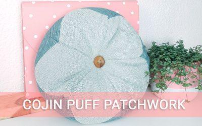 Cómo hacer un cojin puff con la técnica de patchwork